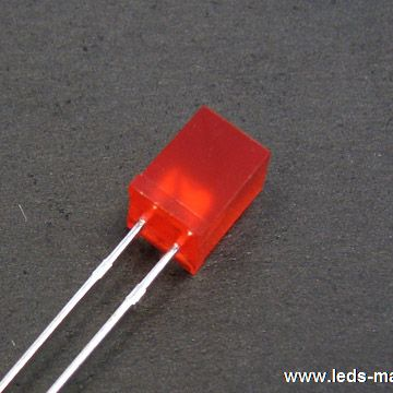 5×5mm Square With Flange Type Amber LED