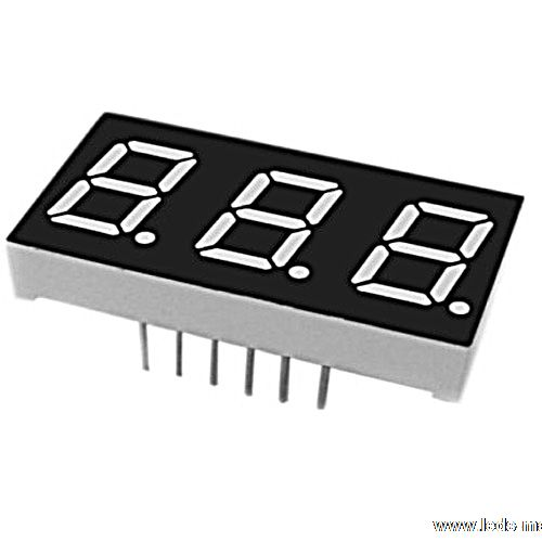 "0.52"" Triple Digit Numeric Displays"