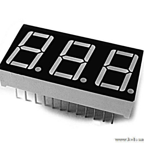 "0.56"" Triple Digit Numeric Displays"